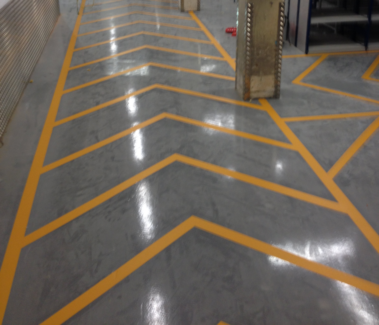 Line Marking For Primark Warehouse In Warrington Bund
