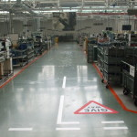 New Epoxy Floor Paint and Line Marking at Bentley in Crewe